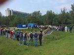 In Delft grote belangstelling voor de bouw van een tijdelijke waterkering
